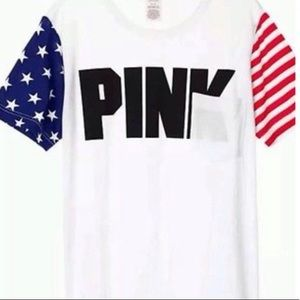 PINK Victoria Secret Americana everyday pocket tee
